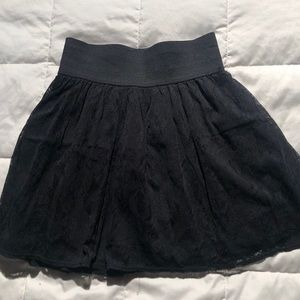 Lily rose lace black skirt with waist band
